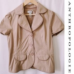 Anthropologie Sitwell Jacket Blazer Jace Lace Trim